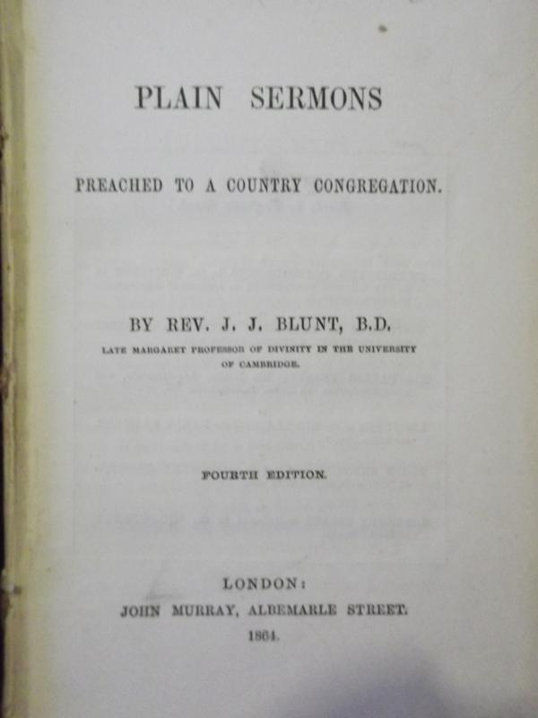 Image for Plain Sermons Preached to a Country Congregation