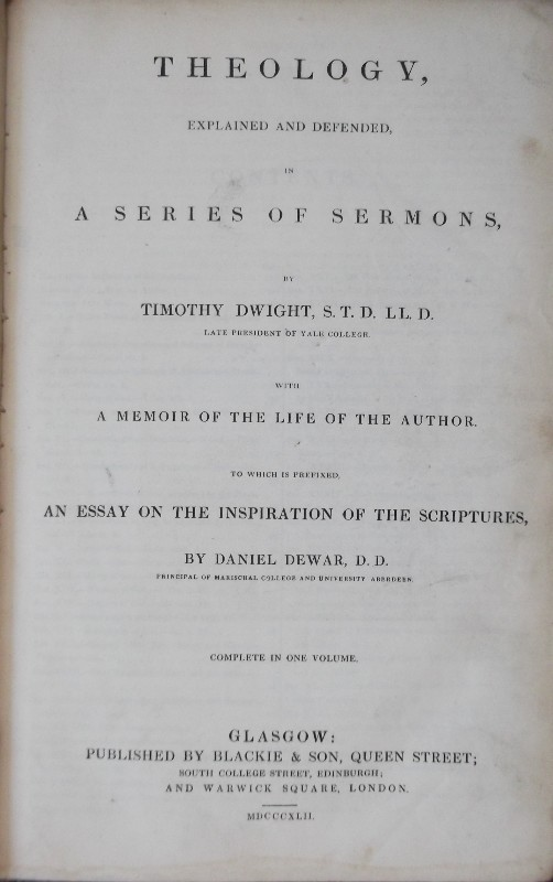 Theology, Explained and Defended, in a Series of Sermons... with a memoir of the life of the Author