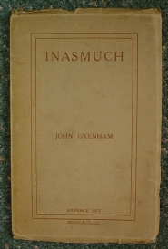 Image for Inasmuch: Some Thoughts Concerning the Wreckage of the War