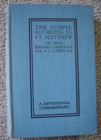 Image for The Gospel according to St Matthew: A Devotional Commentary